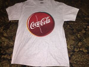 Vintage Coca Cola T Shirt Mens Medium Logo Front