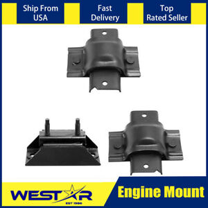3pcs Auto Trans Engine Motor Mount Set Fits 1988 1993 Ford F 350 By08
