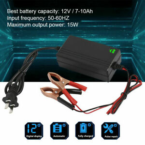 New 12v Trickle Charger Battery Maintainer Motorcycle Car Boat Atv Tender