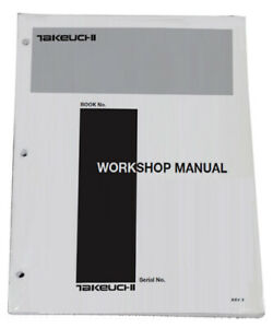 Takeuchi Tb125 Tb135 Tb145 Compact Excavator Workshop Service Repair Shop Manual