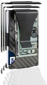 Credit Card Holder Dayree Carbon Fiber Slim Front Pocket Wallet Rfid