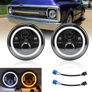 7inch 200w Dot Led Headlight Hi lo Sealed Beam For Chevy C10 Camaro Pickup Truck