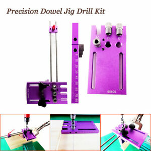 Precision Dowelling Jig Drilling Guide Kit Hole Locator Diy Woodworking Tool Set