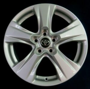 Toyota Rav4 2019 17 5 Spoke Silver Alloy Aluminum Wheels Set Of 4 Oem