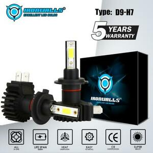 Ironwalls H7 Led Headlight Bulb Kit 315000lm High Low Beam Drl Lamp 6000k White