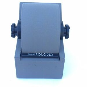 Vintage Rolodex Zephyr Model 1753 American Corp W Original Inserts Retro Gray