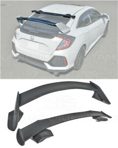 For 16 up Honda Civic Hatchback Jdm Spoon Style Roof Wing Type r Rear Spoiler
