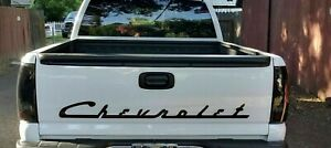 Vintage Chevrolet Chevy Script Body Tailgate Decal New Custom 1pc Tahoe Gmc