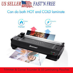 A4 Photo Hot Cold Laminator Fast Speed Film Laminating Machine Free 10 Pouches