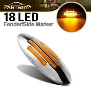 6 3 5 Inch Oval Led Side Marker Clearance Lights Amber 18 Diodes Sealed Surface