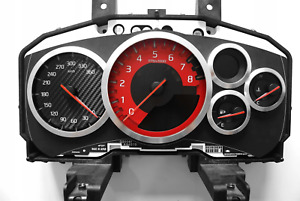 R35 Gt r Gauge Cluster Speedometer Replacement Face Red Nismo Kmh Mph Conversion
