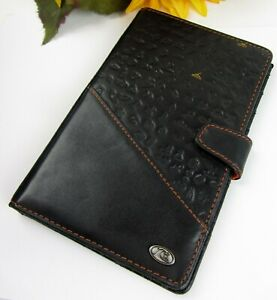 Quick Silver Edition Leather Day timer Wire Bound Planner Cover Pocket Size