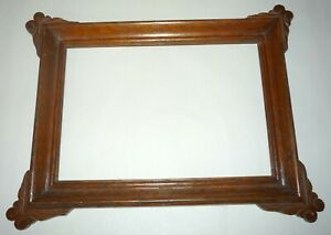1890 S Victorian Small Dark Oak 8 5 X 6 Wood Carved Picture Frame