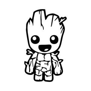 Baby Groot Decal 135