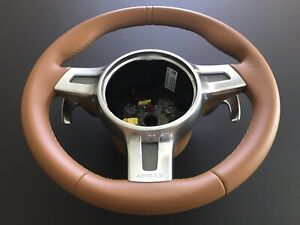 Porsche 987 2 Turbo Carrera Cayman Boxster Steering Wheel W Paddle Shifters