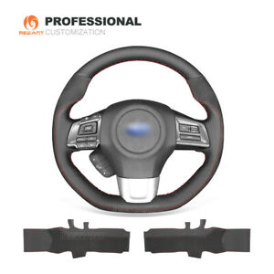 Diy Genuine Leather Suede Car Steering Wheel Cover For Subaru Wrx sti Levorg