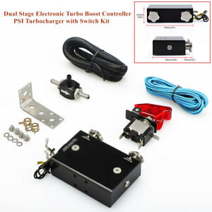 Electronic Turbo Boost Controller Psi Turbocharger W switch Mounting Hardware