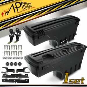 A Premium 2x Rear Left Right Truck Bed Storage Box Toolbox For Ford F 150 15 19