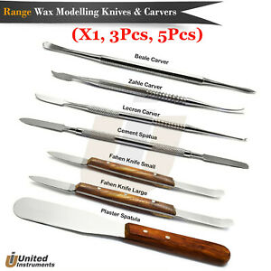 Dental Cement Spatula Amalgam Mixing Alginate Knives Lab Wax Modelling Carvers
