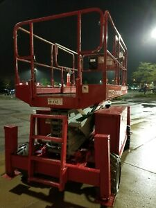 2008 Mec 3772 Electric Scissor Lift 37ft Platform 43 Working Height
