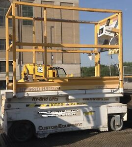 2006 Custom Equipment Hy brid Hb1030 Electric Scissor Lift 16 Working