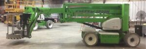 Nifty 2012 Electric And Diesel Sp50 Articulating Boom Lift crush Guard Hybrid