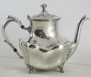 Victorian Barbour Silver Co Silverplate Teapot Quadruple Silver 2449 7