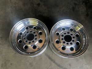 Pair Of 14 X 6 Weld Draglite Drag Race Wheels Chevy Ford Mopar 5x4 5 5x4 75