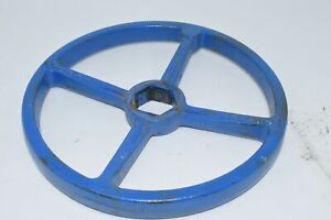 Vintage 10 Crane Cast Iron Steam Valve Handle Wheel Crank Steampunk Art Blue