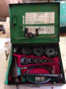 Greenlee 7310 4 Conduit Hydraulic Knockout Punch Set 767 Pump 746 Ram 3760