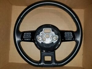 2013 Vw Volkswagen Bug Beetle Fender Edition Black Leather Steering Wheel Oem