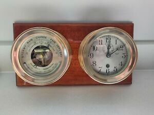 Antique 1936 Chelsea Ships Clock And Barometer 4 1 2