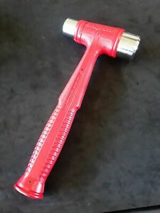 Snap On 32oz Dead Blow Stubby Hammer Dual Face Red Hssd32