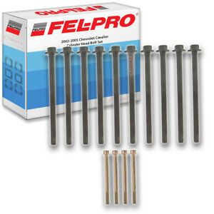 Fel pro Cylinder Head Bolt Set For 2002 2005 Chevrolet Cavalier Felpro Yu
