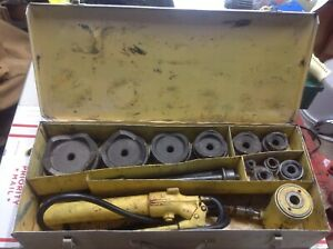 Enerpac Sp62 1 2 4 Hydraulic Knockout Punch Set 3000
