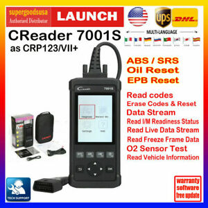 Launch X431 Creader Cr7001s Auto Obd2 Scanner Car Code Reade Rabs Epb Oil Engine