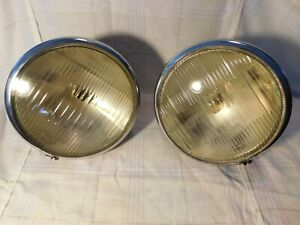 2 Vintage Original Custom Hot Rod Ford Chevy Plymouth Dodge Gmc Mack Headlights