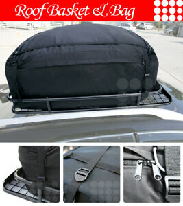 Fit Jeep Roof Top Basket Travel Luggage Carrier Cargo Rack bag wind Fairing