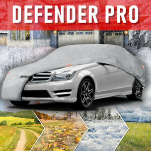 Multi Layer Waterproof Car Cover For Auto All Weather Protection Secure Lock L