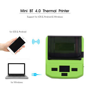 Handheld Mini 80mm Wireless Pos Receipt Bt Barcode Thermal Printer usb Port B3i8