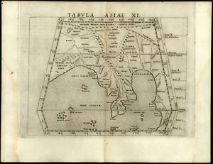 Indian Ocean Burma Ganges India Ptolemy 1562 Ruscelli Early Map