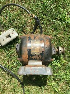 Vintage Antique Ge 35898 110v Ac Electric Motor 5 2a 1 4hp 1725 Rpm Y2202