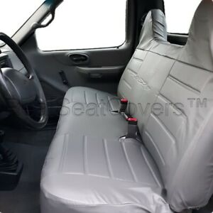 F23 Pugr F Series Regular Super Cab Front Rear Solid Bench Seat Cover For Ford