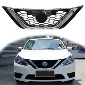 For Nissan Sentra 2016 2018 2017 Front Bumper Upper Chrome Grill Abs Chrome