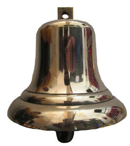 Vintage 1990 Made Marine Brass Bell Ship S 100 Original 580