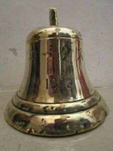 Vintage 1972 Made Marine Brass Bell Ship S 100 Original 607