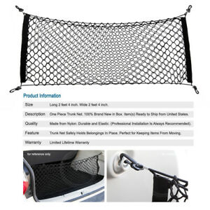 Universal Double Elasticated Trunk Cargo Carrier Basket Holder Net For Subaru