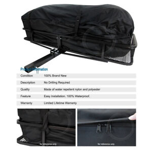 Tail Hitch Mount Rack Luggage Basket Cargo Carrier Storage Bag For Dodge
