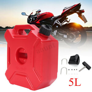 5l Portable Plastic Jerry Can Gas Fuel Tank Petrol Atv Utv Motorcycle Car Gokart