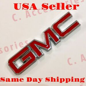 3d Gmc Red Emblem Badge Decal Sticker